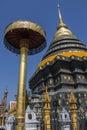 Main stupa buddhist temple wat phra lampang luang near chiang mai northern thailand Royalty Free Stock Photography