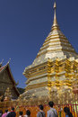 Main stupa doi suthep buddhist temple near chiang mai northern thailand temple often referred to as doi suthep actually name Stock Image