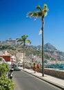 The main tourist promenade of Giardini Naxos on the island of Sicily Italy Royalty Free Stock Photo