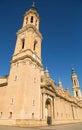 Main Tower Basilica-Cathedral El Pilar Zaragoza Royalty Free Stock Photo