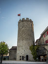 Main tower of the castel of Regensberg near Zurich Royalty Free Stock Photo