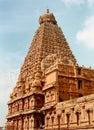 Main tower with single stone-vimana- of the ancient  Brihadisvara Temple in Thanjavur, india.