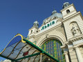 Main train station in lviv ukraine Royalty Free Stock Photos