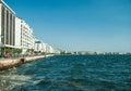 Main view on Thessaloniki embankment Royalty Free Stock Photo