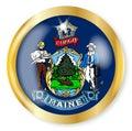 Maine Flag Button