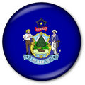 Maine State Flag Button Stock Photography