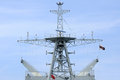 Mainmast of modern warship, Thailand. Royalty Free Stock Photo