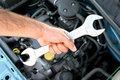 Maintenance a car Royalty Free Stock Photo