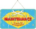 Maintenance sign for website vintage style Stock Photos