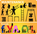 Maintenance web site icon repair Stock Photography