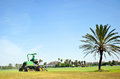 Maintenance work on the golf course of Costa Ballena, Rota, Cadiz province, Spain Royalty Free Stock Photo