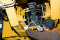 Maintenance work of heavy loader Royalty Free Stock Photo
