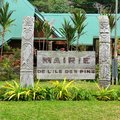 The mairie x city hall x of ile des pins x isle of pines x new caledonia a territory in french archipelago Royalty Free Stock Image
