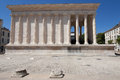 Maison carree in nimes france Royalty Free Stock Photos