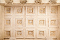Maison carree nimes france detail of the adorned ceiling of the roman temple in provence south of Stock Images