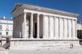 Maison carree nimes france the roman temple with corinthian columns in provence south of Stock Photo
