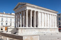 Maison carree nimes france the roman temple with corinthian columns in provence south of Stock Images