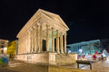 Maison carree a roman temple in nimes france Stock Photos