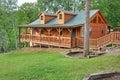 Maison de vacances de logarithme naturel Photo stock