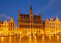 Maison du roi brussels at night belgium Stock Photography