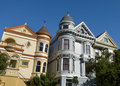 Maisons victoriennes colorées à San Francisco Photos stock