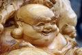 Maitreya buddha,chinese wood carving chinese carving,maitreya buddha Royalty Free Stock Photo