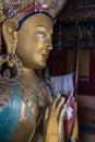 Maitreya buddha in thiksey monastery Royalty Free Stock Photo