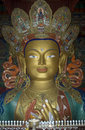 Maitreya, the Future Buddha, Tiksey, Ladakh, India Royalty Free Stock Photo