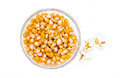 Maize grain dried with popcorn next top Royalty Free Stock Photo