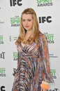Majandra delfino santa monica ca march at the film independent spirit awards on the beach in santa monica ca Stock Images