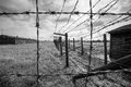 Majdanek concentration camp in lublin poland on the outskirts of on july more than people were killed at during the Royalty Free Stock Photo