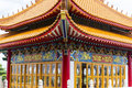 Majestic ancient chinese pavillion in asian temple Royalty Free Stock Photo