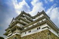 Majestic Castle of Himeji in Japan. Stock Photos