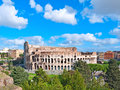 The majestic coliseum rome italy view from palatine hill Stock Image
