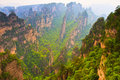 Majestic landscape, Zhangjiajie China Stock Photos