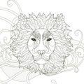 majestic lion coloring page