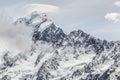 Majestic mount cook aoraki mount cook national park Stock Image