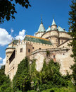 Majestic old castle in Bojnice, Slovakia Royalty Free Stock Images