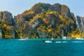 Majestic thai cliffs Royalty Free Stock Photo