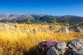 Majestic view of cretan landscape at sunset Royalty Free Stock Photo