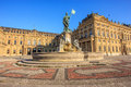 Majestic view of Frankonia fountain and facade of the Wurzburg Residence in Wurzburg, Bavaria, Germany , Europe Royalty Free Stock Photo