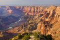 Majestic Vista of the Grand Canyon at Dusk Royalty Free Stock Photo