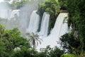 Majestic waterfall sprays Royalty Free Stock Photo