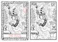 The major arcana tarot card. The fool