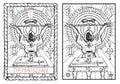 The major arcana tarot card. The magician