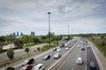 Major highway in Toronto Royalty Free Stock Photo