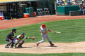 Major League Baseball - All Star Carlos Beltran Hits Royalty Free Stock Photo