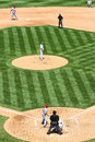 Major league baseball pitcher anticipation Imagens de Stock