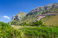 Majorca coast hills beautiful scenery on Stock Photo