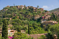 Majorca houses on hill Stock Photography